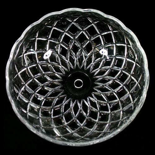 Bobeche lampadari Vetro veneziano Ø 20 cm, foro Ø 12 mm, NO fori laterali.