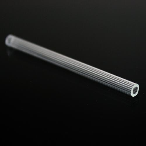 Cannetta in vetro in cristallo, lunghezza 8 cm, Ø 6 mm