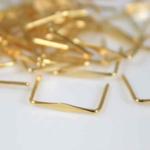 Clip 14 mm liscia bagno oro per agganci cristalli con gambo 11