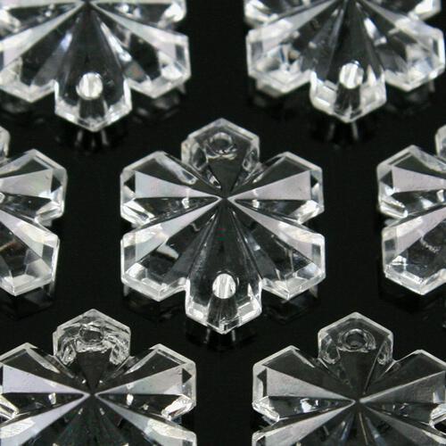 Fiocco di neve 16 mm, vetro cristallo doppio foro