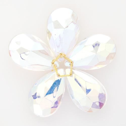 Fiore di cristallo pendente iridato Ø70 mm addobbo creativo