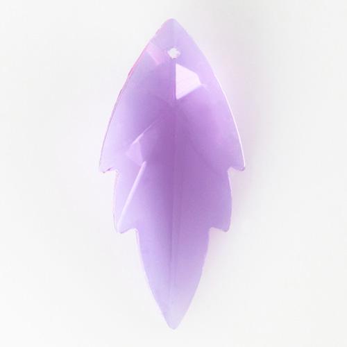 Foglia pendente h56 mm in cristallo molato color alessandrite