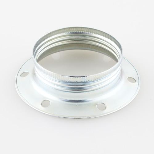 Ghiera E27 metallica zincata per portalampada