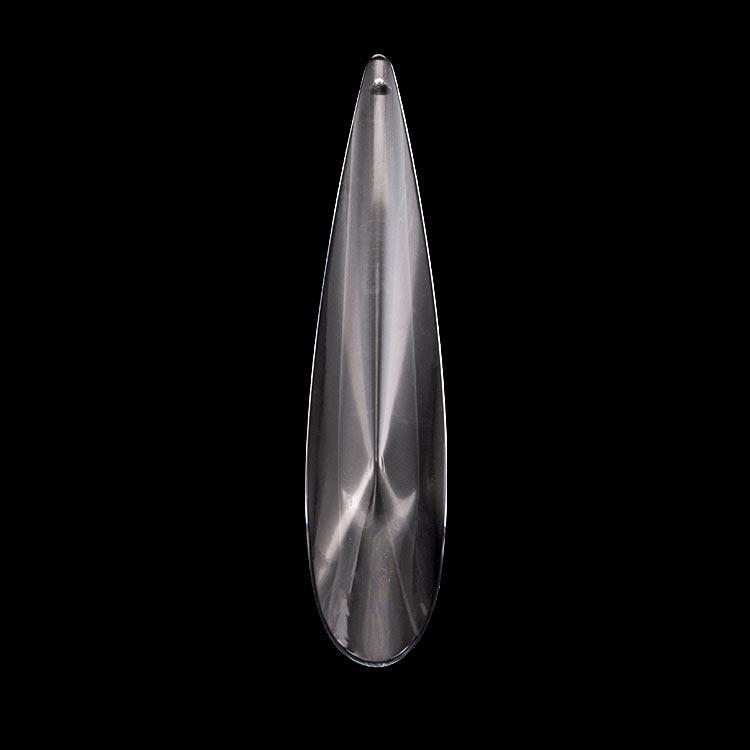 Grande goccia pendente 158 mm vetro molato a mano cecoslovacco per lampadari vintage