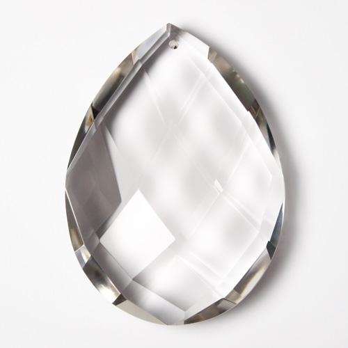 Grande mandorla in cristallo cecoslovacco h115 mm. Pendente goccia lampadari originale Boemia