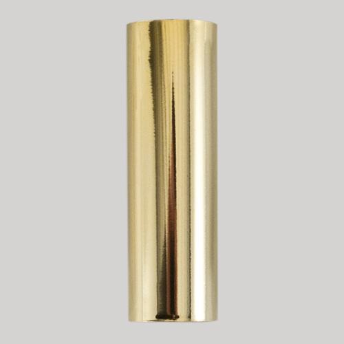 Guscio copri porta-lampada E14 oro liscio in plastica h 65 mm (no nippel per attacco elettrico)