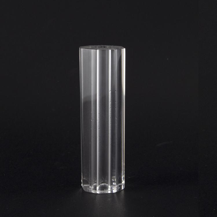 Infilaggio colonna sfaccettata in cristallo molato Ø30x100 mm foro 11,5 mm per lampadari cristallo