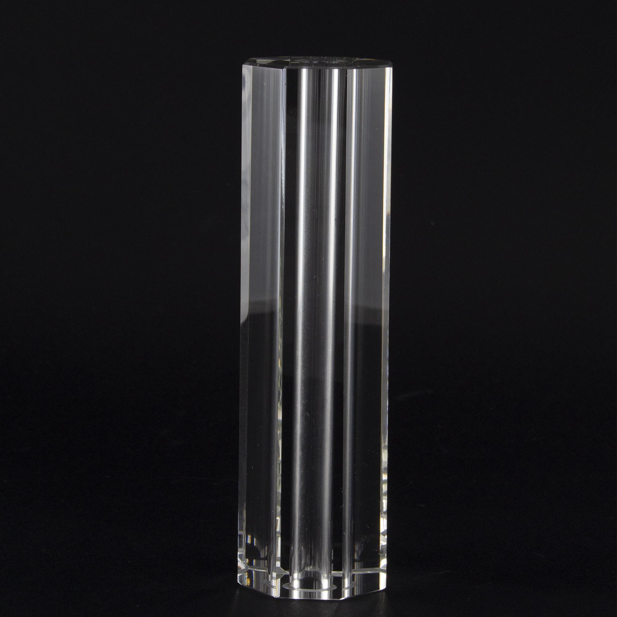 Infilaggio colonna sfaccettata in cristallo molato Ø40x150 mm foro 11,5 mm per lampadari cristallo