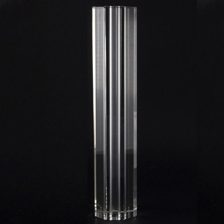 Infilaggio colonna sfaccettata in cristallo molato Ø50x250 mm foro 13,5 mm per lampadari cristallo