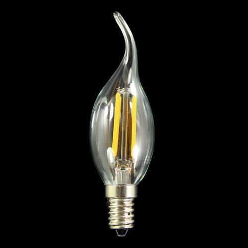 Lampadina E14 colpo di vento led COB lineari - luce calda 3000K 4 W 230V