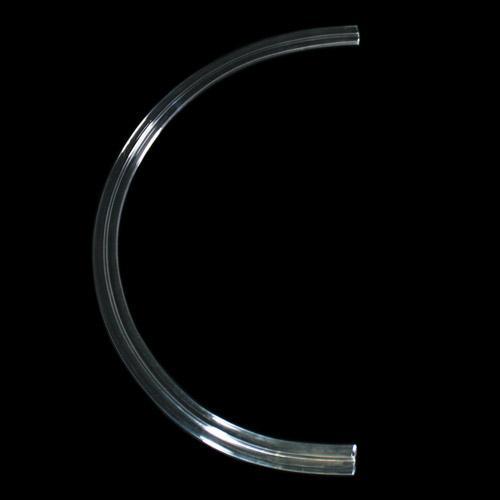 Listello Ø 300 mm in vetro colore puro, forma a semicerchio, foro passante.