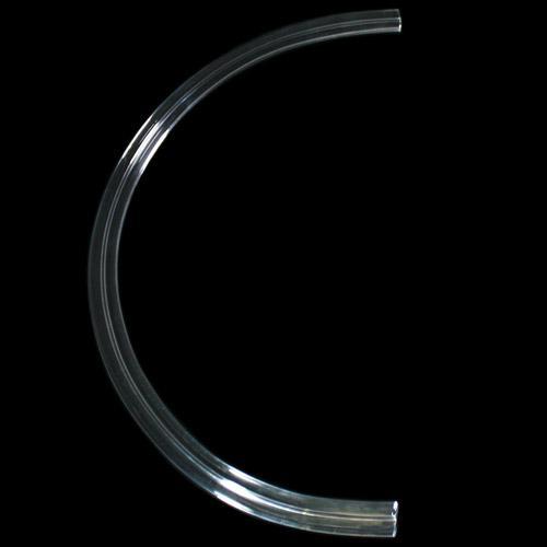 Listello Ø 350 mm in vetro colore puro, forma a semicerchio, foro passante.