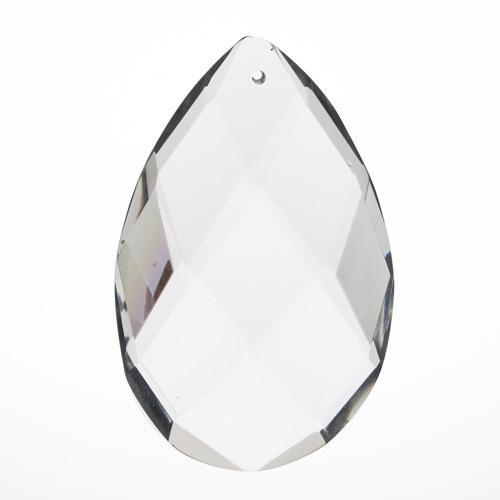 Mandorla in puro cristallo di Boemia h100 mm. Per restauro lampadari antichi e vintage.