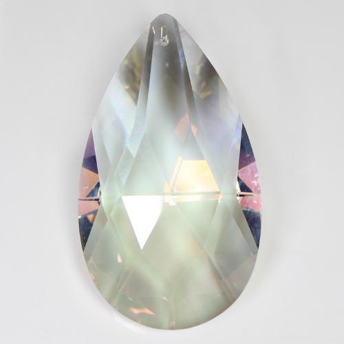 Mandorla pendente 89 mm vetro cristallo molato aurora boreale