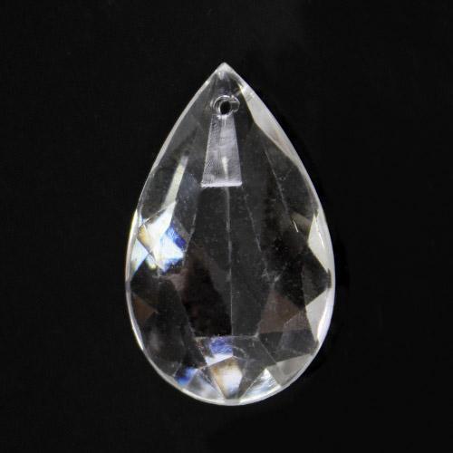 Mandorla pendente in Cristallo Acrilico colore Trasparente 28 mm