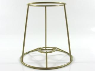 Montatura per paralume 15x10x15 cm., finitura dorata, attacco tradizionale a ghiera E14