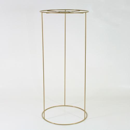 Montatura telaio paralume cilindro 20x45 cm color oro, attacco E27
