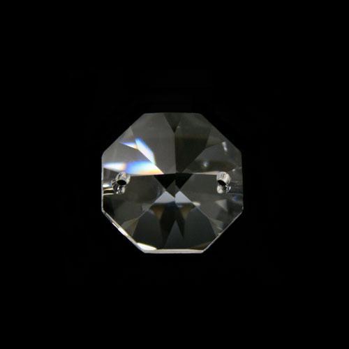 Ottagono 18 mm cristallo sfaccettato due fori -Asfour 1080-