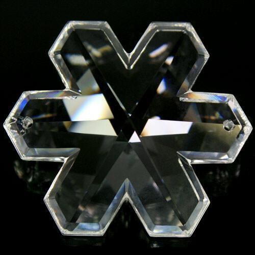 Pendaglio fiocco di neve Swarovski Cristallo Trasparente 50 mm, 2 fori - 8811 -