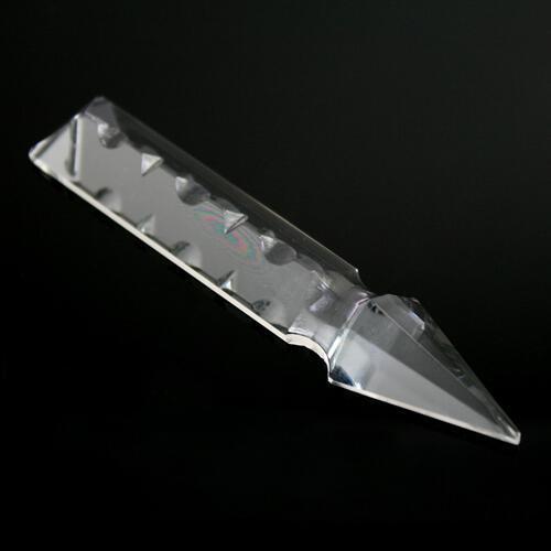 Pendaglio freccia 100 mm, pendente con foro, vetro cristallo molato lucidato