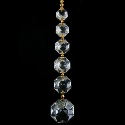Pendente strenna decorativa con cristalli ottagoni a scalare in cristallo veneziano.