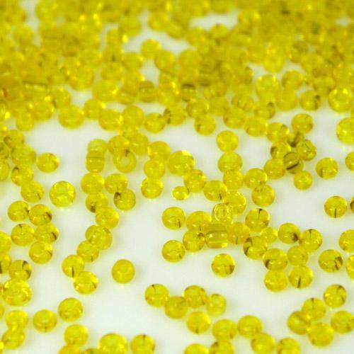 Perline di conteria tonde giallo, 2 mm