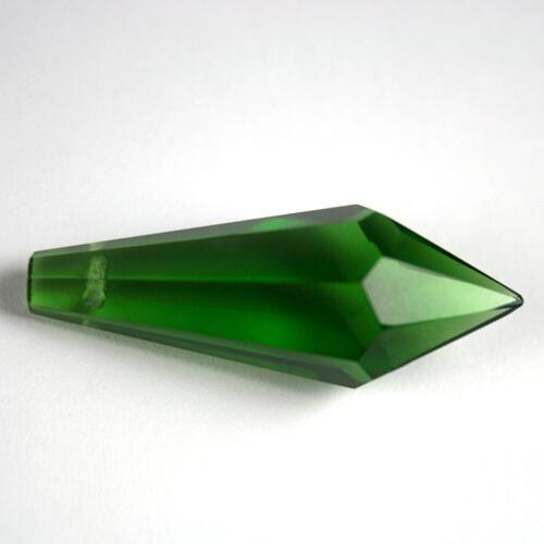 Prisma pendente 38 mm verde, vetro cristallo sfaccettato molato