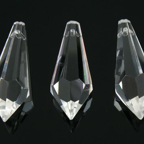 Prisma pendente 50 mm colore puro trasparente, vetro cristallo sfaccettato molato