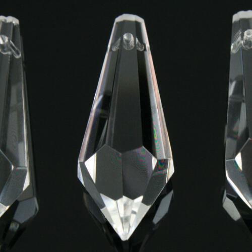 Prisma pendente 63 mm colore puro trasparente, vetro cristallo sfaccettato molato