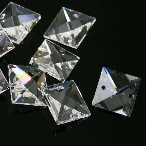 Quadruccio 18 mm cristallo sfaccettato due fori -Asfour 2020- per lampadari