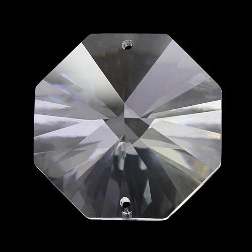 Spectra Swarovski - Cristallo ottagono doppio foro, Trasparente 30 mm.