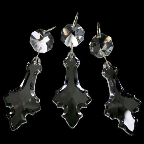 Strenna decorativa con cristalli Asfour, pendente a croce, ottagono.