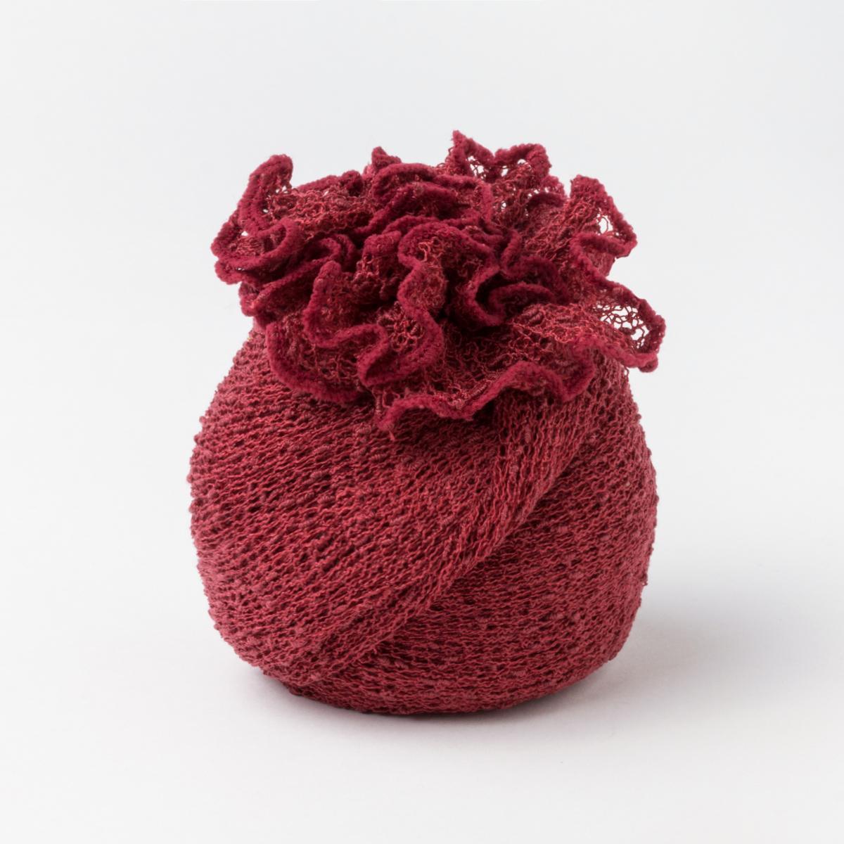 Ponchetto Rosso Amaranto | Accessori Etnici online