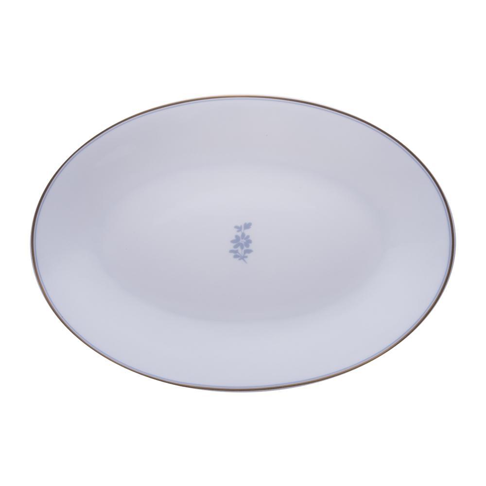 Piatto ovale cm 32 | Feston e Cadena Azzurro