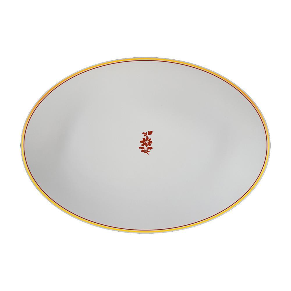Piatto ovale cm 26 | Feston e Cadena Rosso