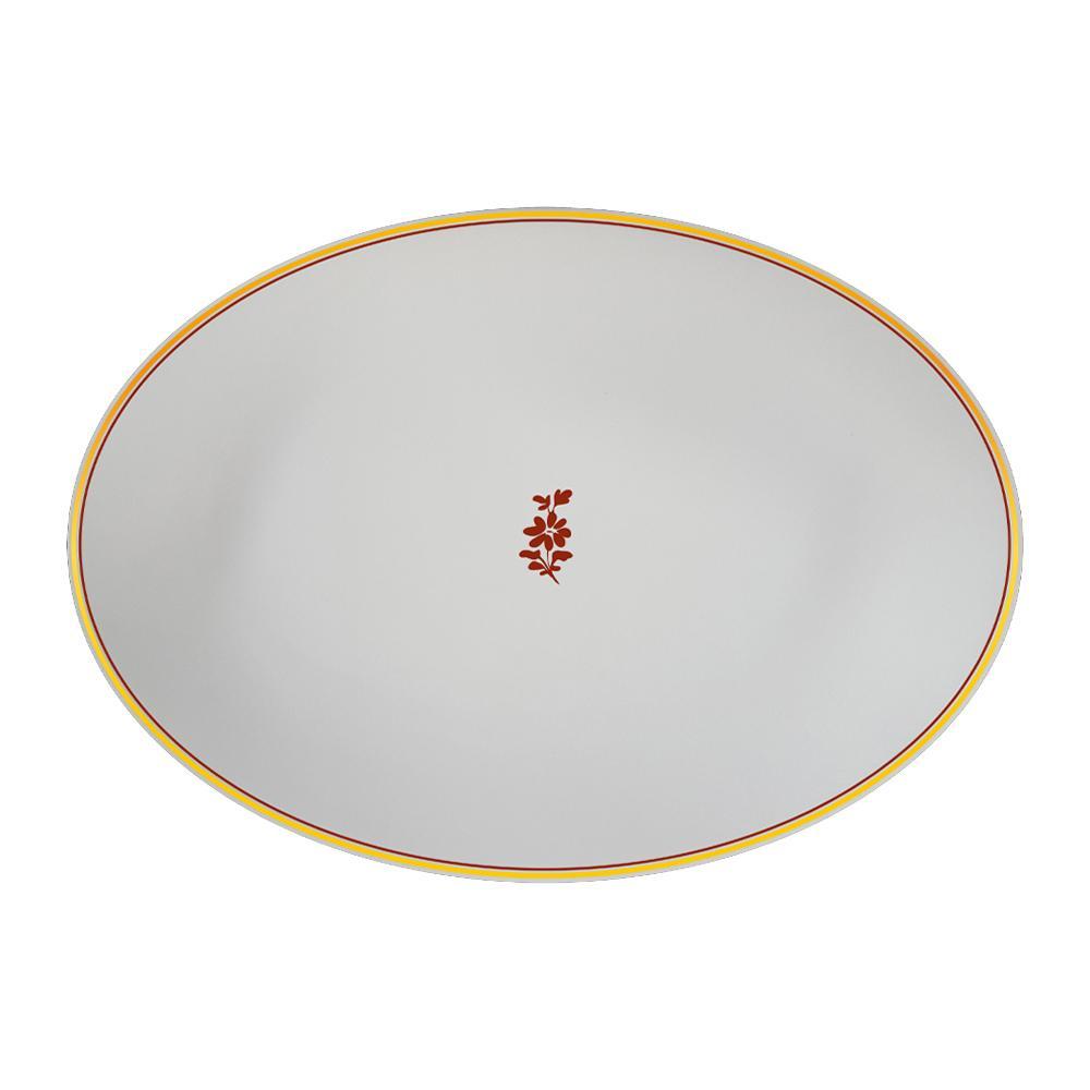 Piatto ovale cm 32 | Feston e Cadena Rosso