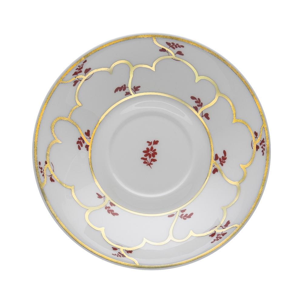 Piattino per tazza thè e cappuccino cm 16 | Feston e Cadena Rosso