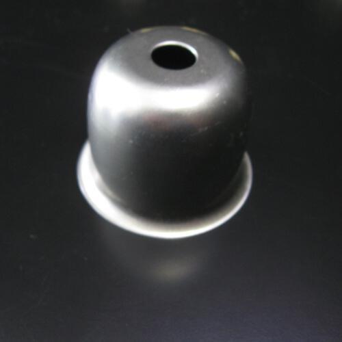 Mezzo bicchierino per portalampada E27 in ferro grezzo Ø40 mm foro 10mm e battuta