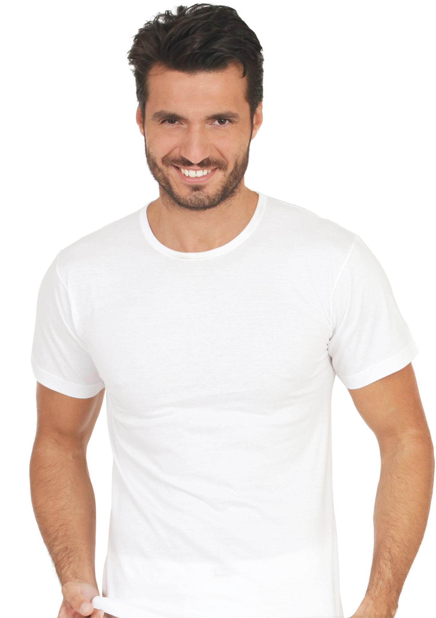 Maglietta intimo Uomo 100% Cotone Bianca