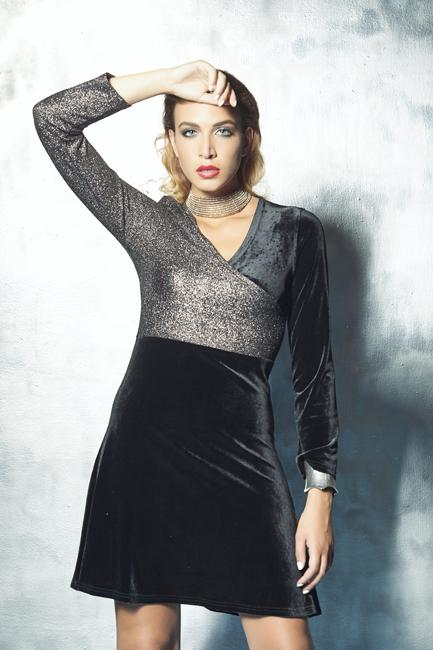 Two-tone evening dress | online chic women's clothing