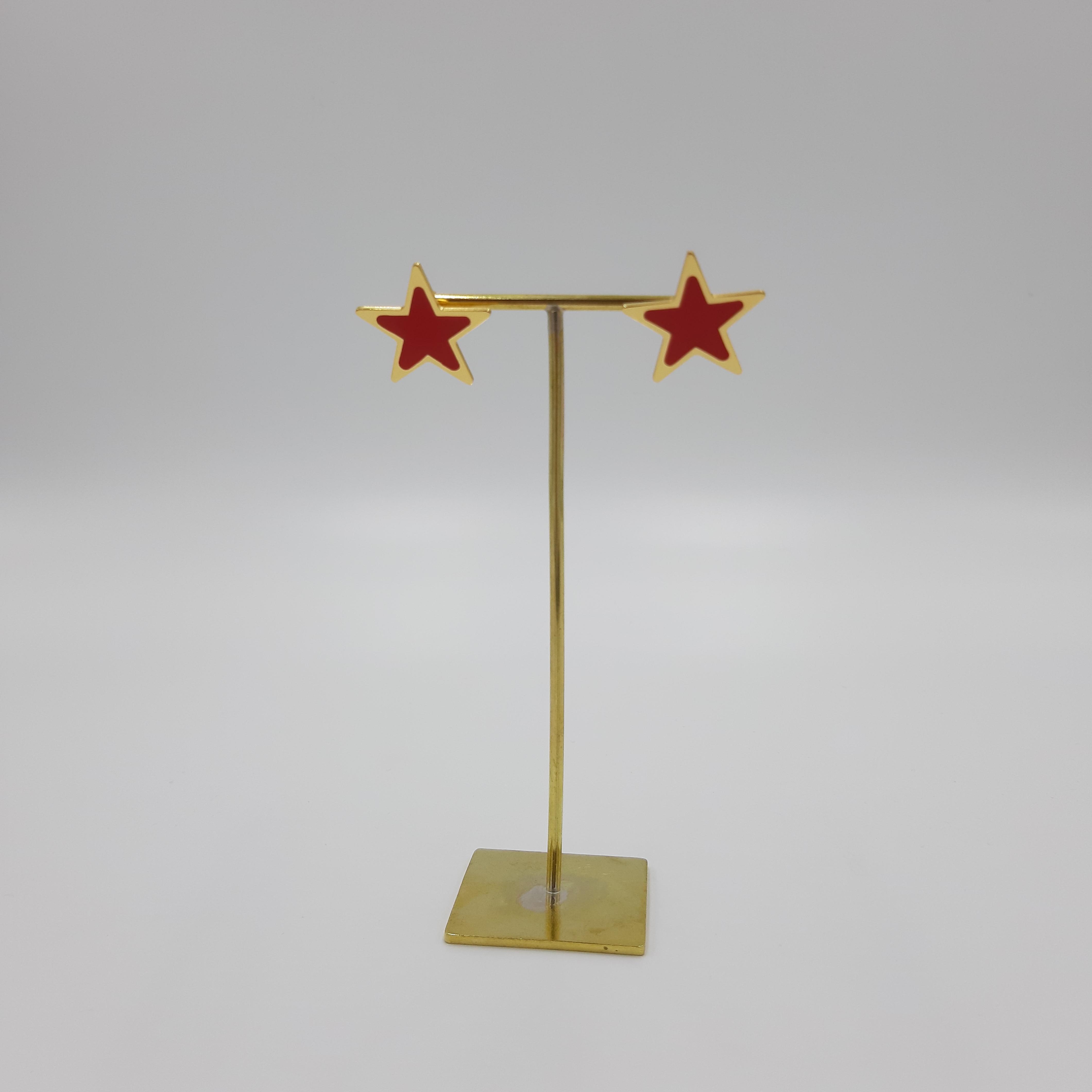 Orecchini stella rossi Francesca Bianchi Design