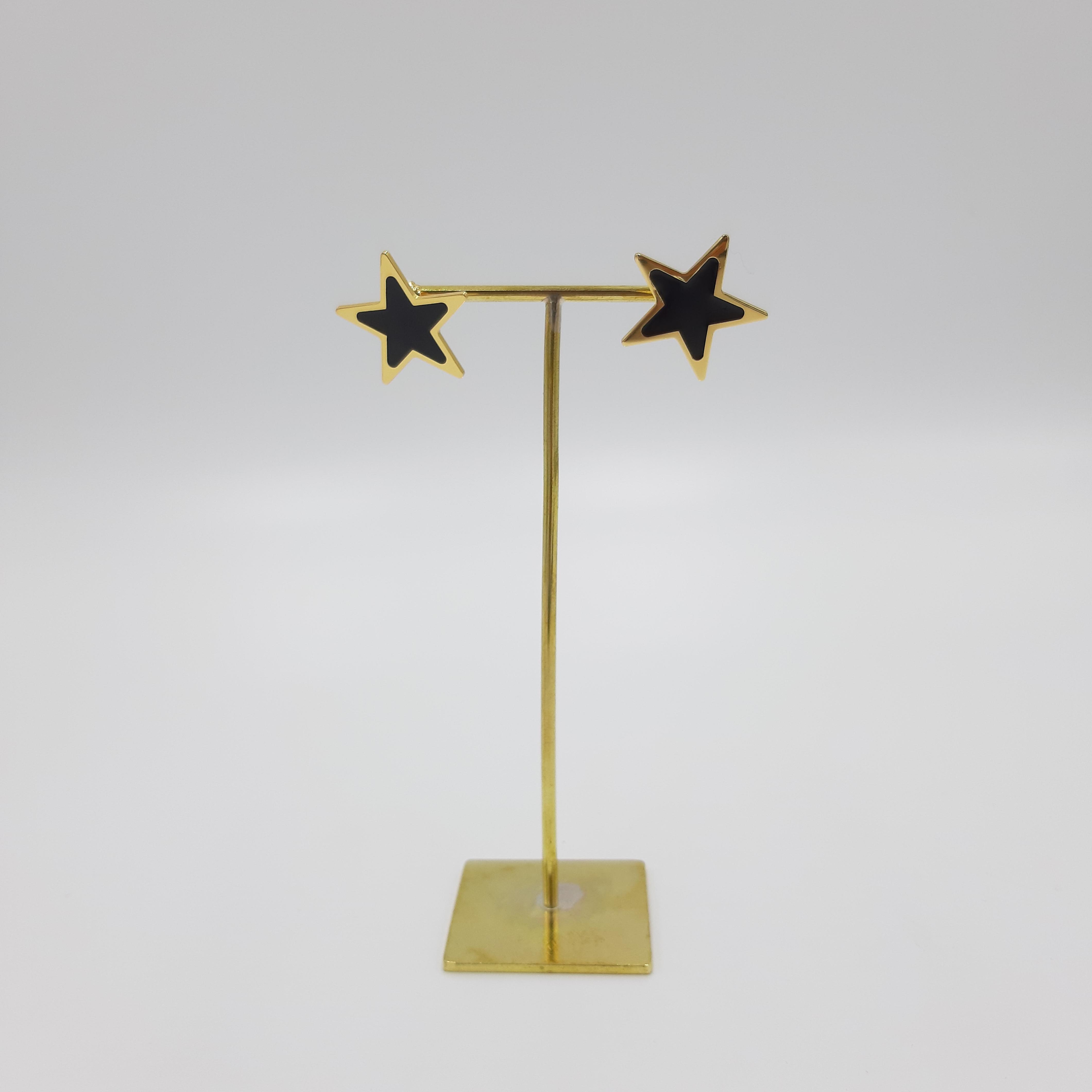 Orecchini stella neri Francesca Bianchi Design