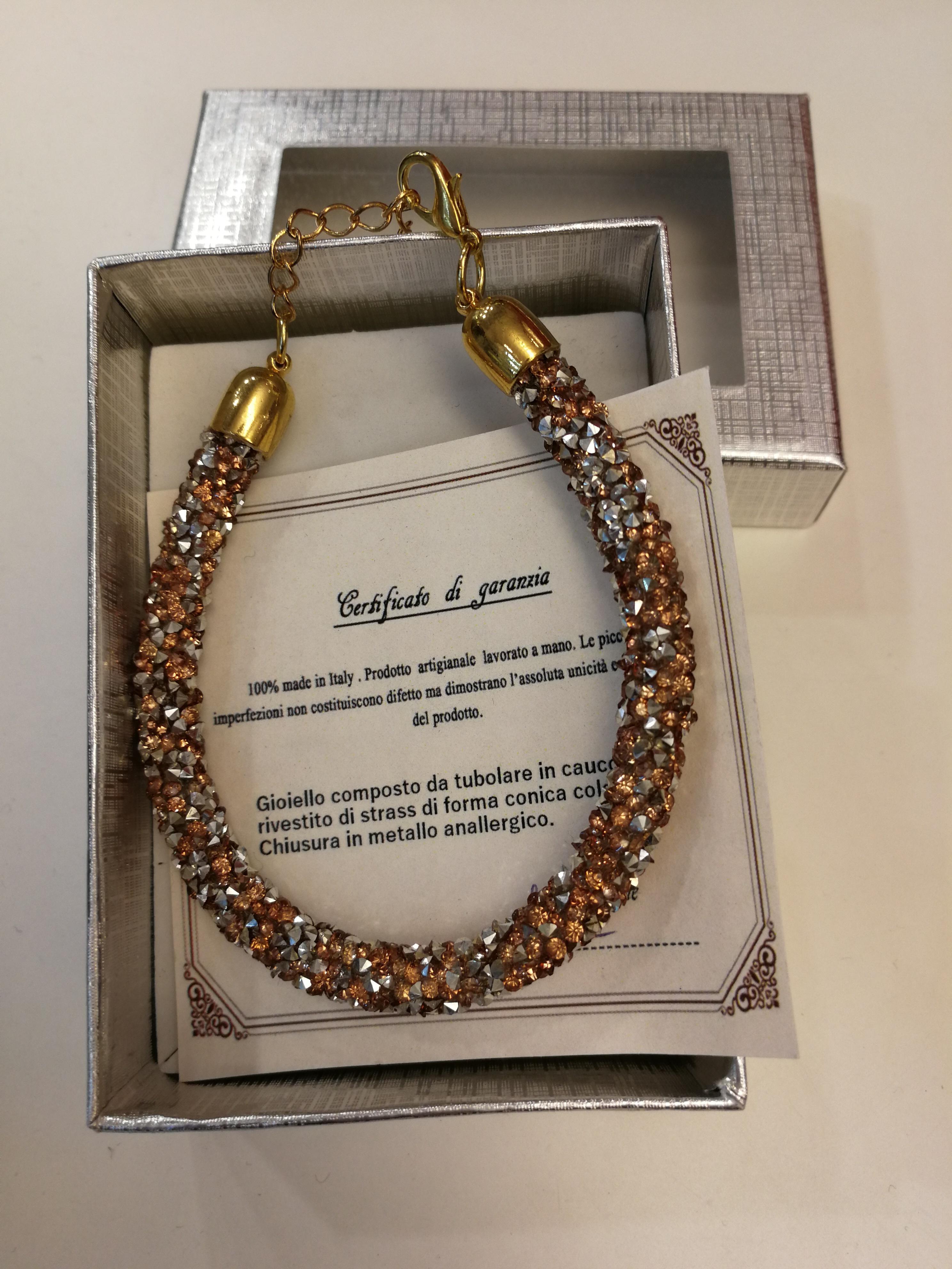 Bracelet fait main couleur bronze | Vente en ligne