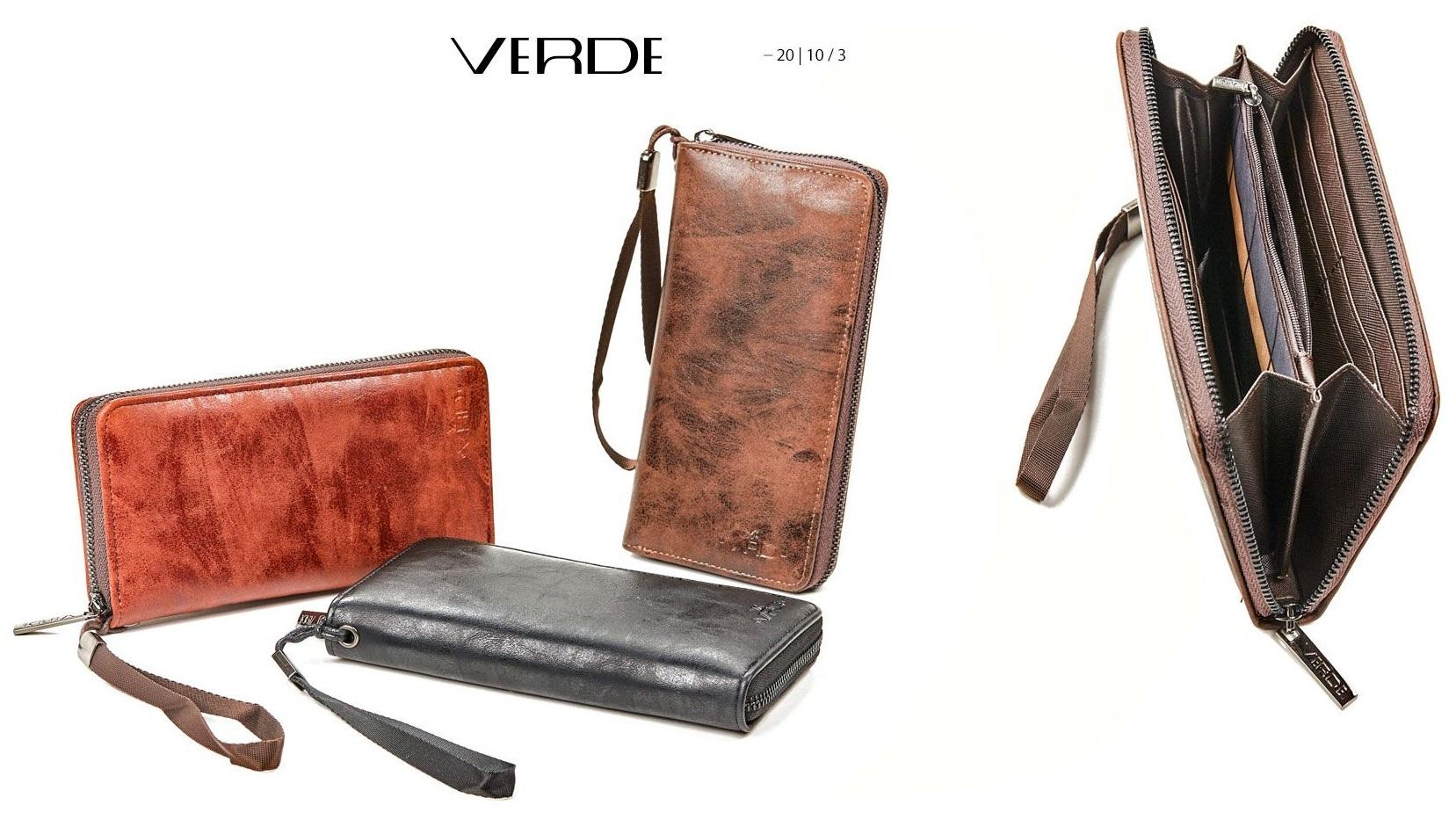 Green Fashion | Faux leather wallet vintage effect