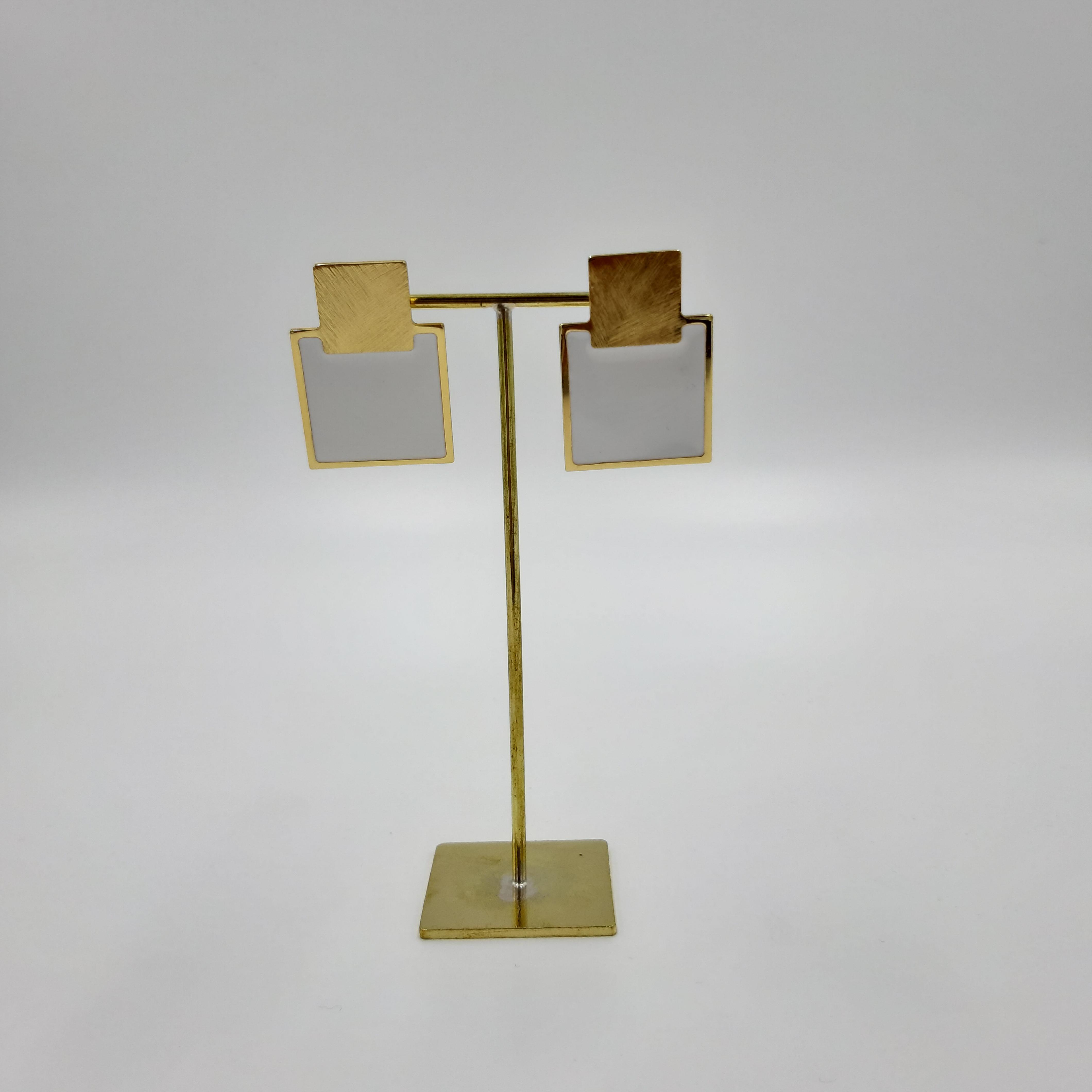 Orecchini mini Q bianchi Francesca Bianchi Design