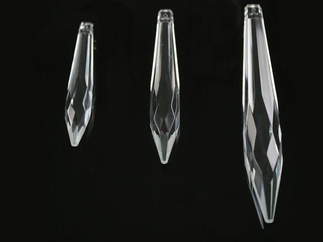 Goccia 100 mm pendente prisma sfaccettata, vetro cristallo veneziano