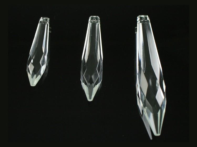 Goccia 63 mm pendente prisma sfaccettata, vetro cristallo veneziano