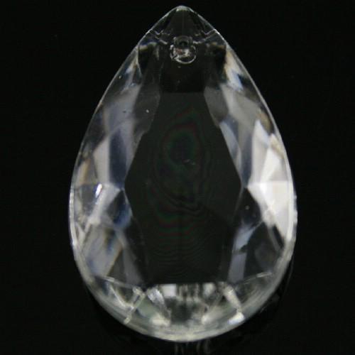 Mandorla 38 mm, goccia pendente vetro veneziano