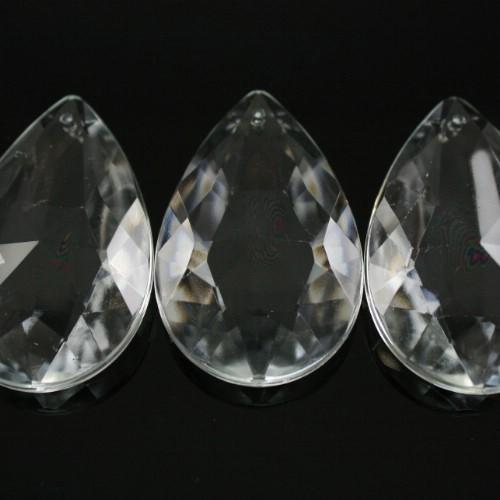 Mandorla 50 mm, goccia pendente vetro veneziano