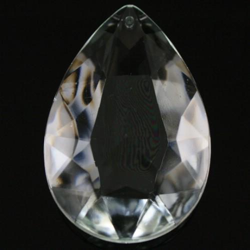 Mandorla 63 mm, goccia pendente vetro veneziano